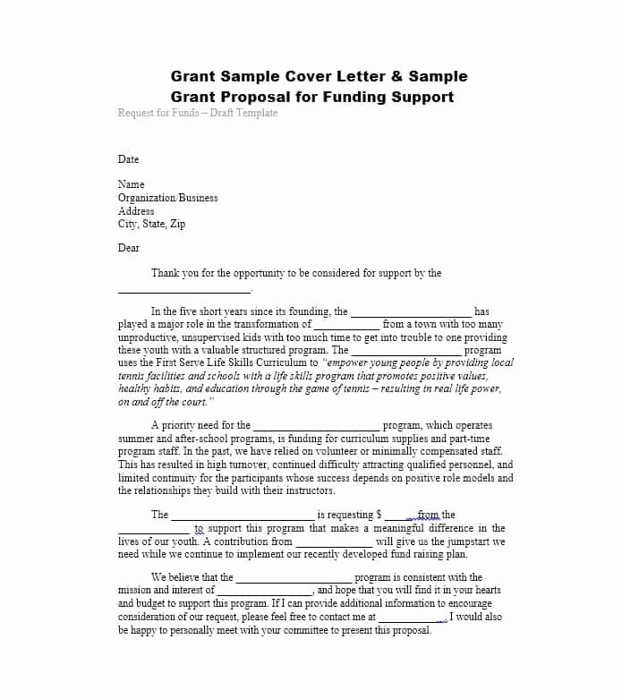 Letter Of Support Templates Elegant 40 Grant Proposal Templates [nsf Non Profit Research] Template Lab