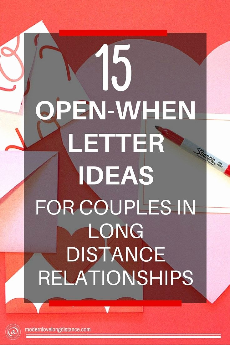 Letter to Boyfriend Long Distance Beautiful 30 Open when Letter Ideas and topics Perfect for Long Distance Relationships for Him
