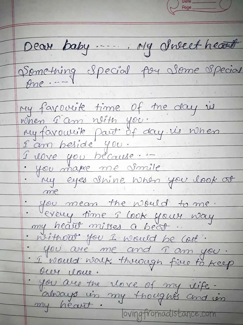 Letter to Boyfriend Long Distance New Love Letter Gallery