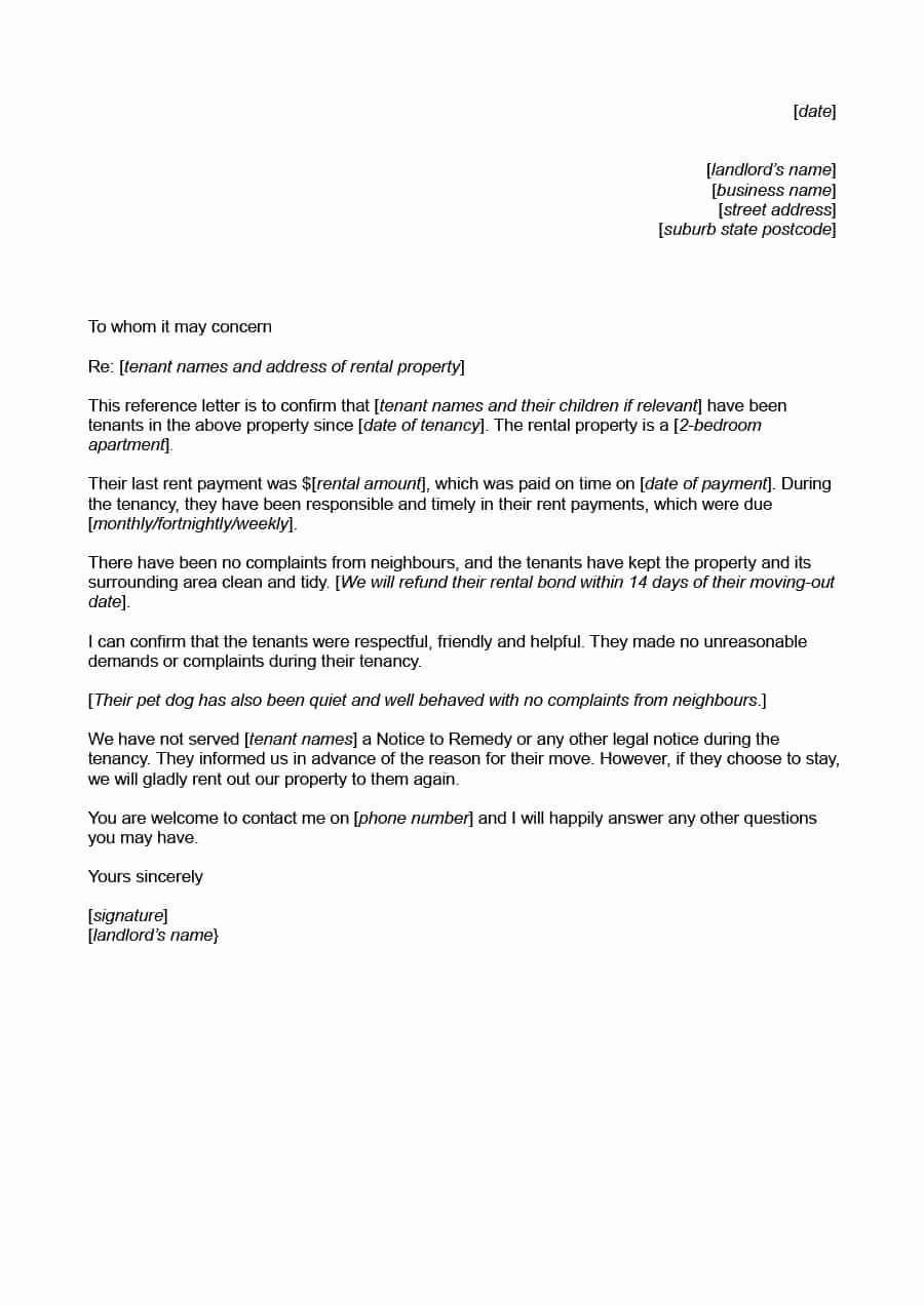 Letter to Landlord for Repairs Beautiful 40 Landlord Reference Letters & form Samples Template Lab