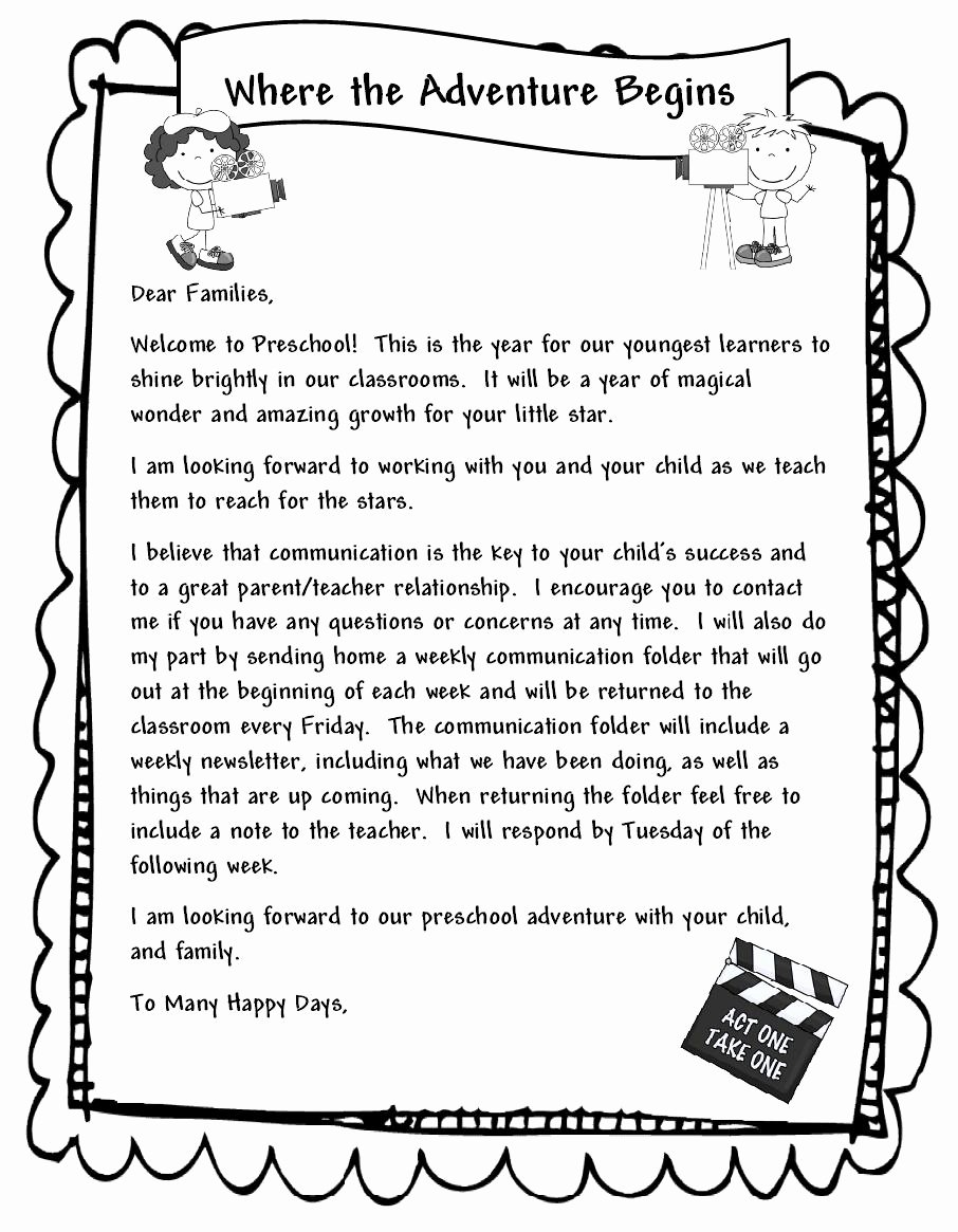 Letter to My Parents Unique Learning and Teaching with Preschoolers Wel E Parents