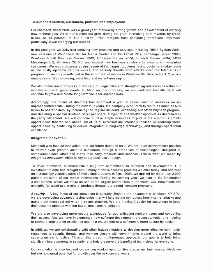 Letter to Shareholders Template Awesome Letter to Holders