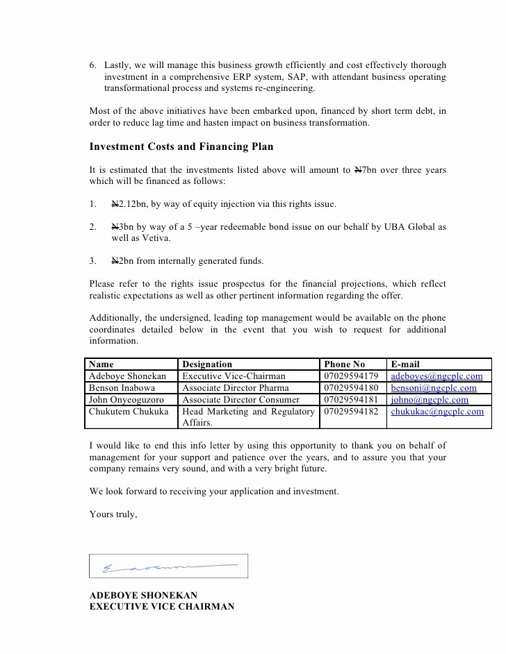 Letter to Shareholders Template Lovely Letter to Holders