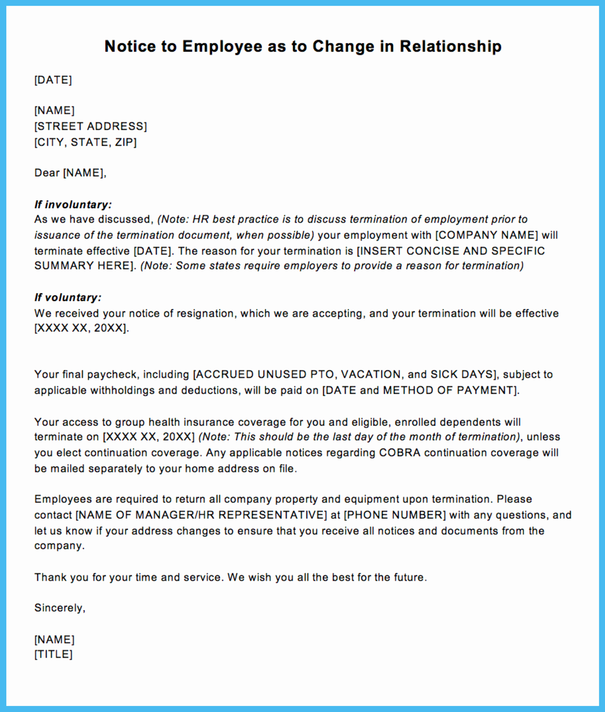 Letter to Terminate Business Relationship Inspirational Sample Termination Letter for Letting An Employee Go