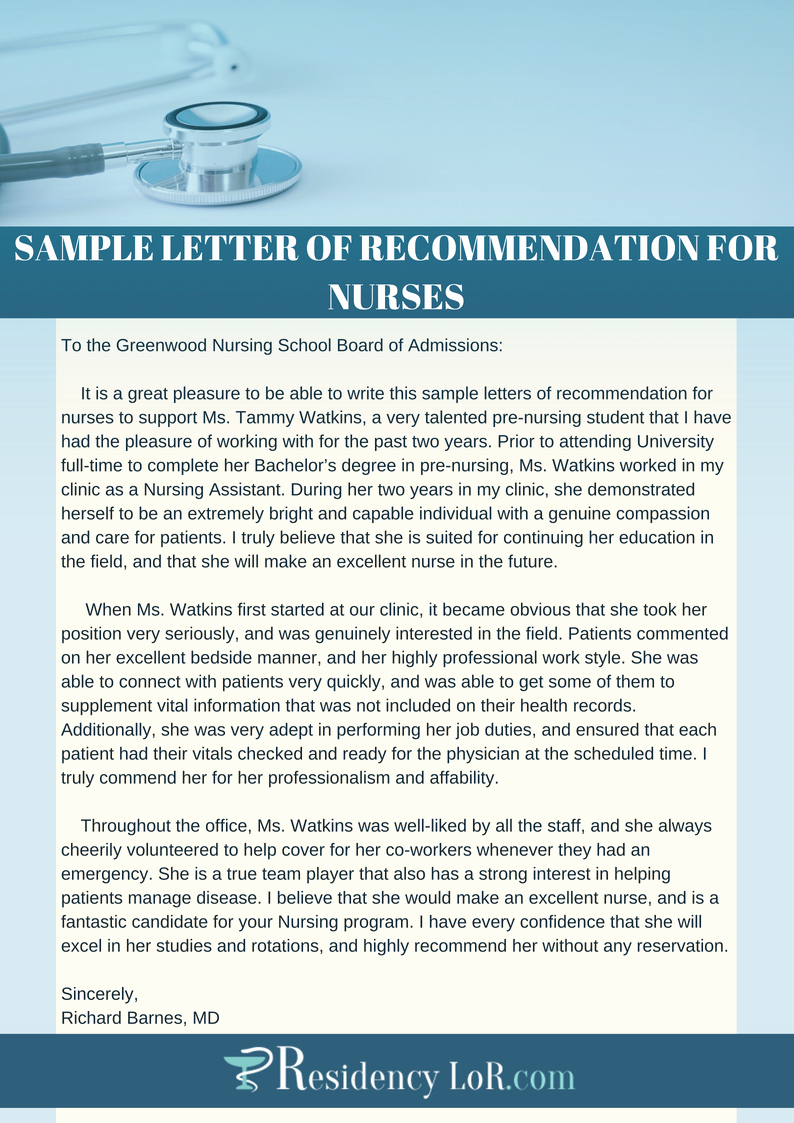 Letters Of Recommendation for Nurses Unique the Best Nurse Re Mendation Letter Writing Help Expert Guide