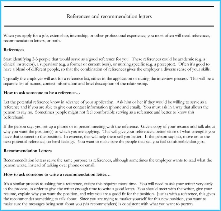 Letters Of Recommendations for Nurses Awesome Nursing Reference Re Mendation Letters 9 Samples