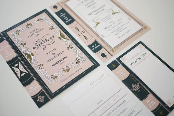 Library Card Invitations Template Elegant Vintage Library Book Wedding Invitation Printable by 3eggsdesign