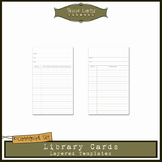 Library Card Invitations Template New Library Cards Mercial Use Layered Templates for by Triciacurtis