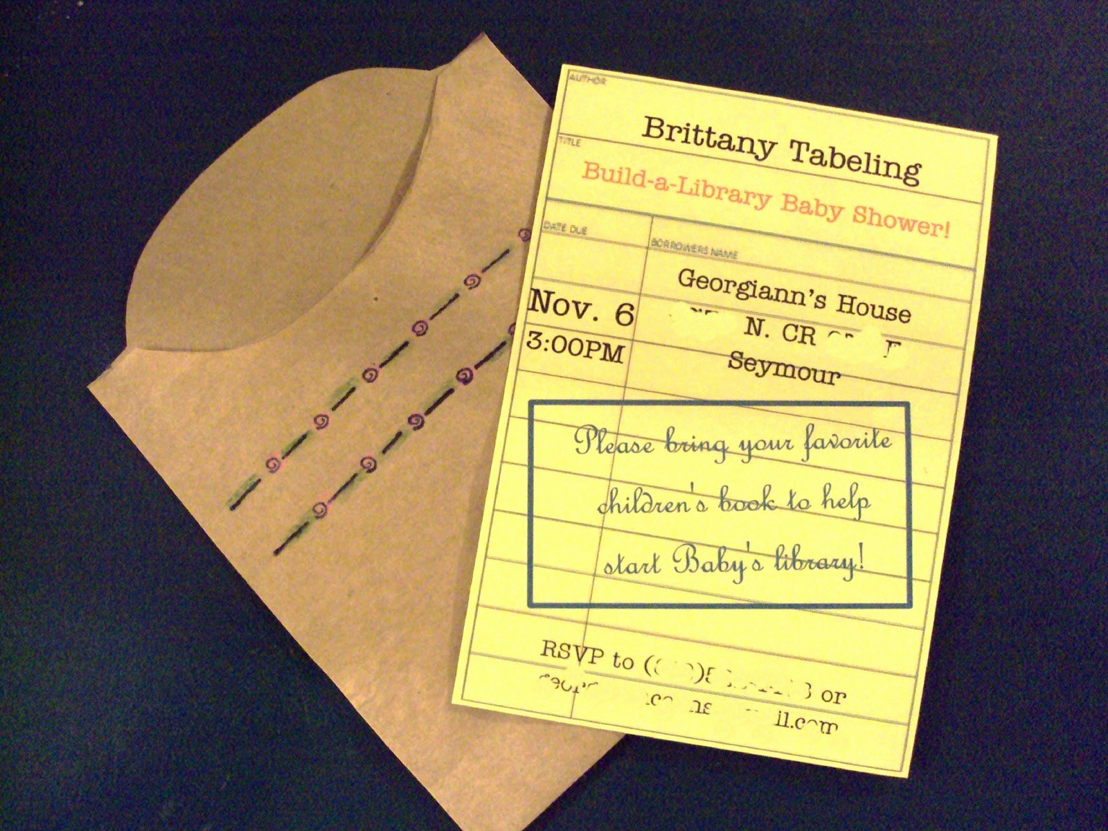 Library Card Invitations Template Unique Sweet songs November Thankfulness Paper