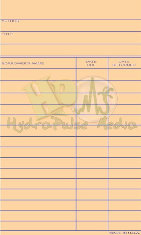 Library Checkout Cards Template Awesome Library Check Out Card Blank Printable Paper by theglockycoggler