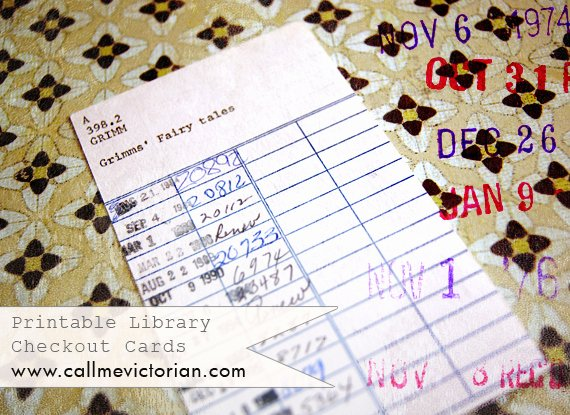 Library Checkout Cards Template Awesome Printable Library Cards