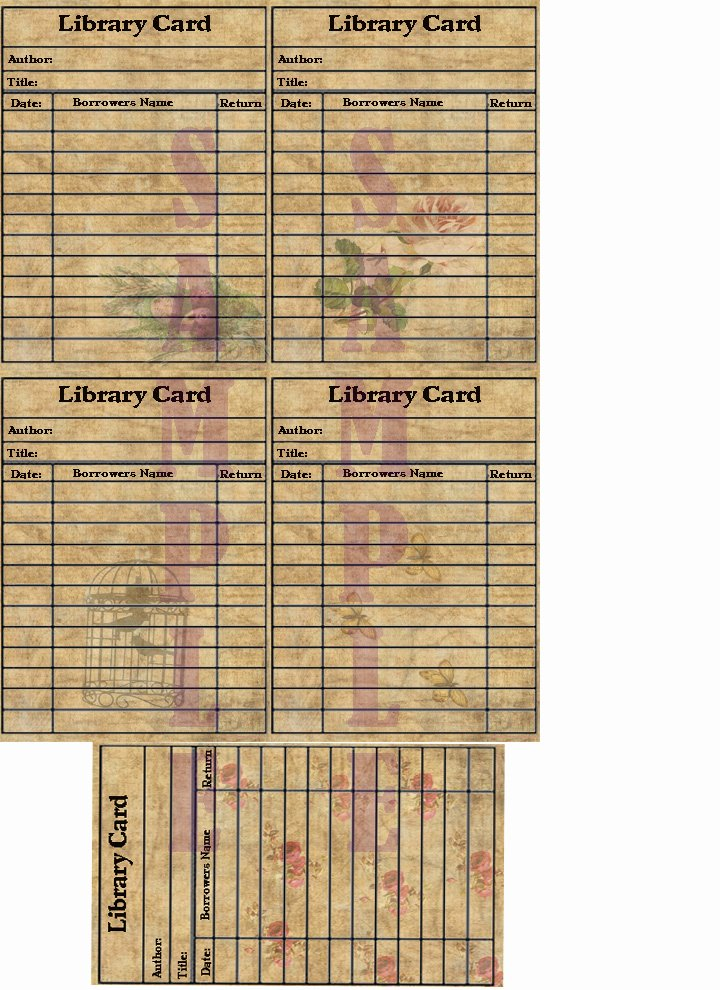 Library Checkout Cards Template Awesome the Etsy Bitsy Scrapper Selling Blog