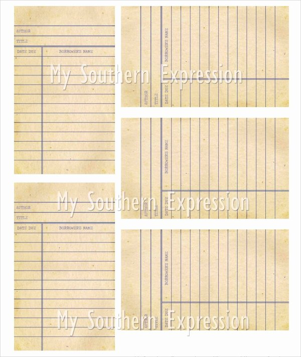 Library Checkout Cards Template Lovely 15 Library Card Templates Psd Vector Eps