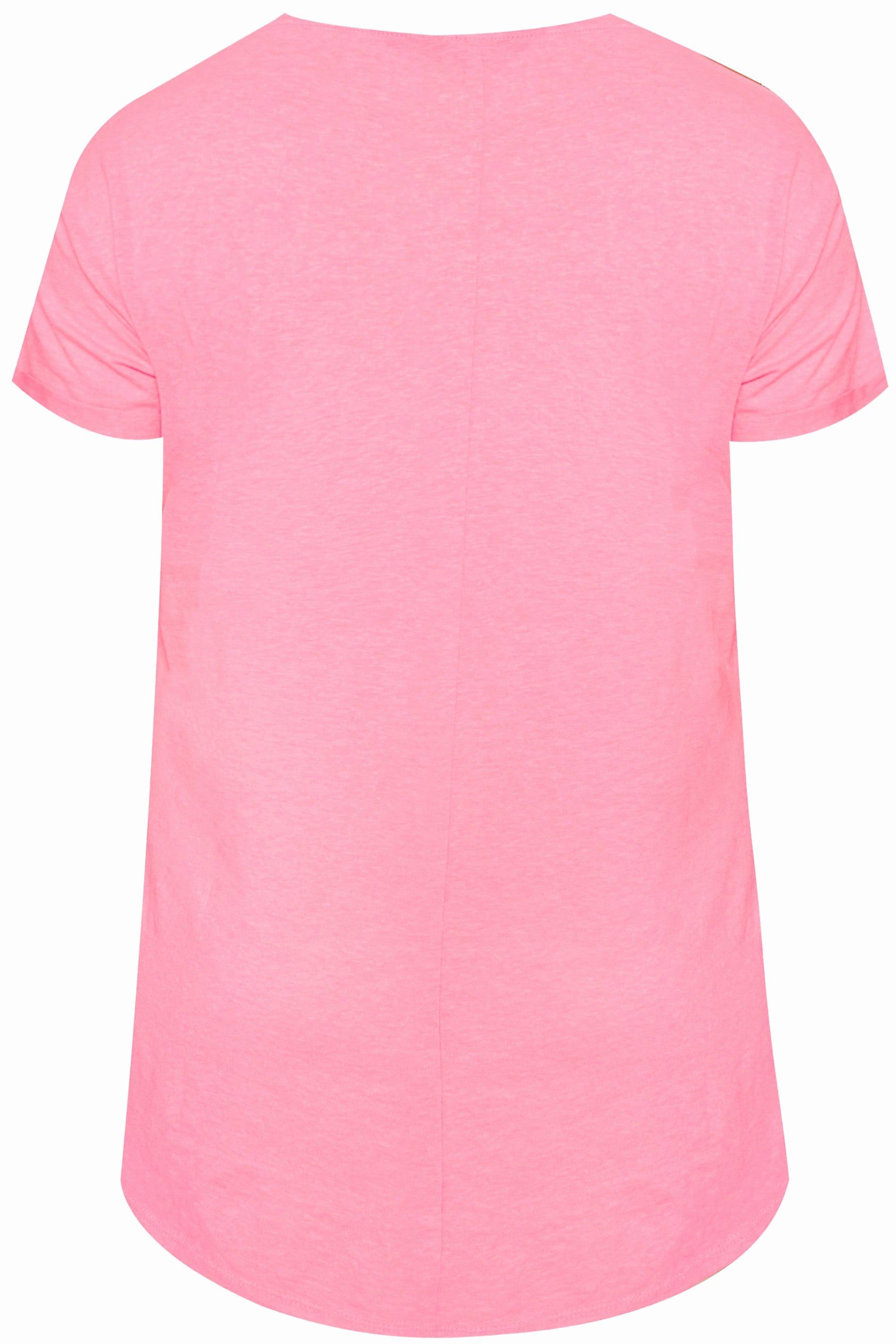Like Us On Facebook Template Elegant T Shirt Pink Große Größen 44 64