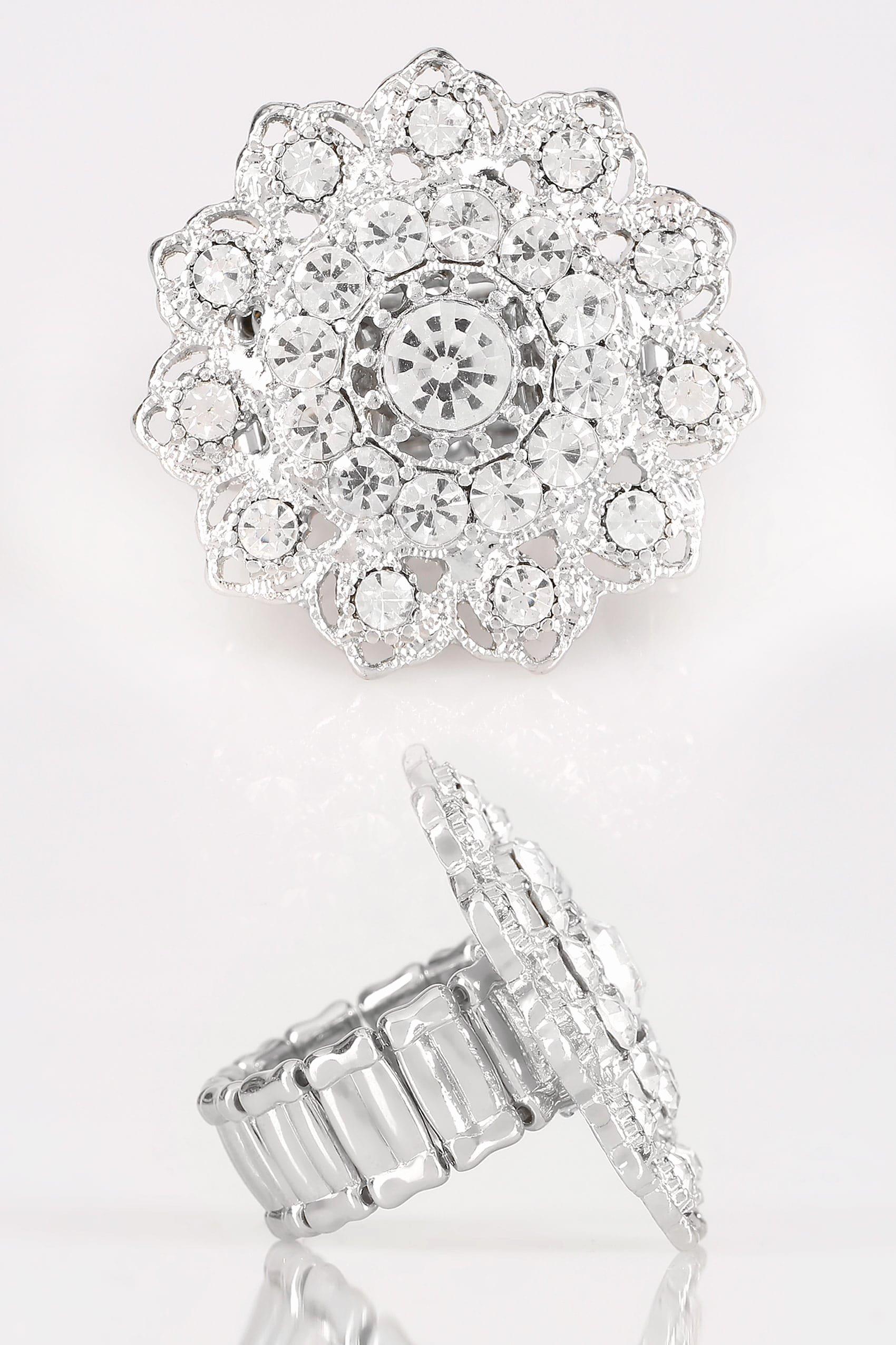 Like Us On Facebook Template Inspirational Bague Stretch Mandala Couleur Argent Et Faux Diamants