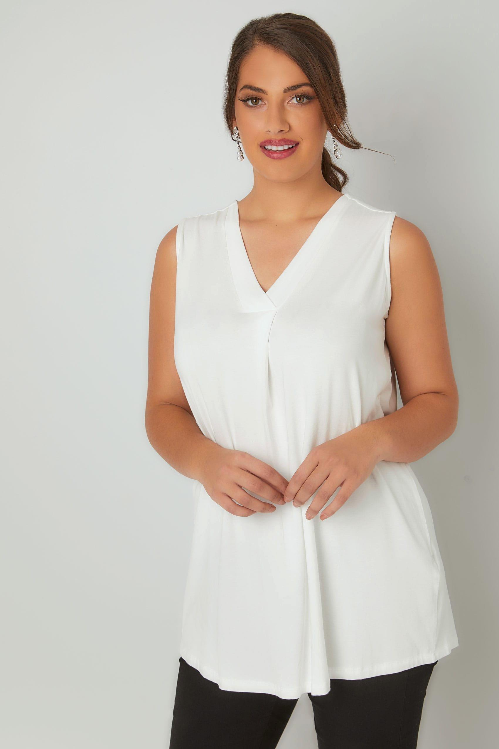 Like Us On Facebook Template Lovely Weißes Ärmellose V Ausschnitt Jersey Oberteil In Großen Größen 44 64