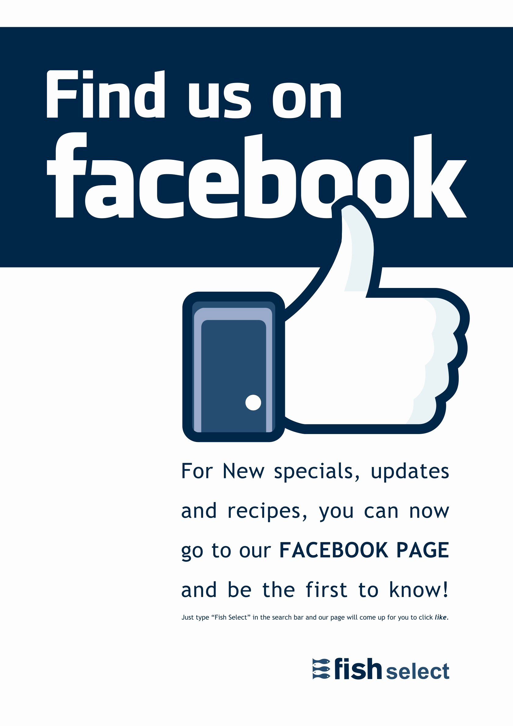 Like Us On Facebook Template New 9 Best Of Find Us Poster Find and Like Us Logo Find Us