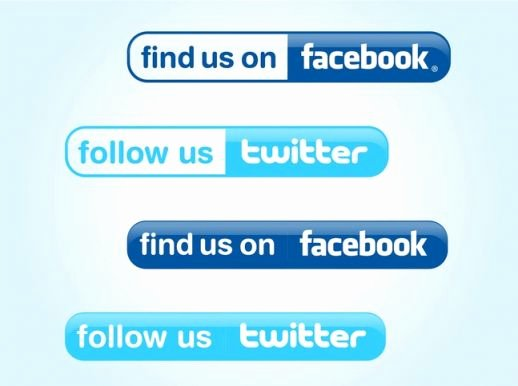 Like Us On Facebook Vector Beautiful Follow Us buttons Vector Ai Pdf Free Graphics