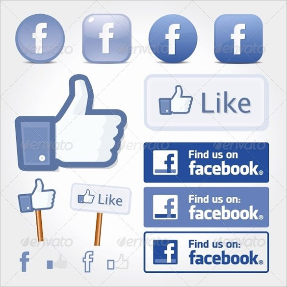 Like Us On Facebook Vector Best Of 10 buttons Free Psd Eps Vector format Download