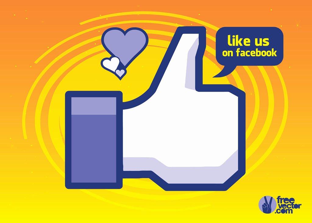 Like Us On Facebook Vector Lovely social Like Graphics Vector Art & Graphics