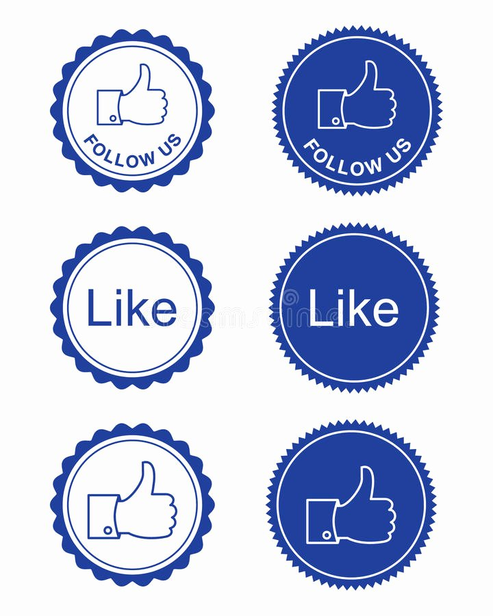 Like Us On Facebook Vector Luxury Like Follow Us buttons Stock Vector Illustration Of Icon Blogging