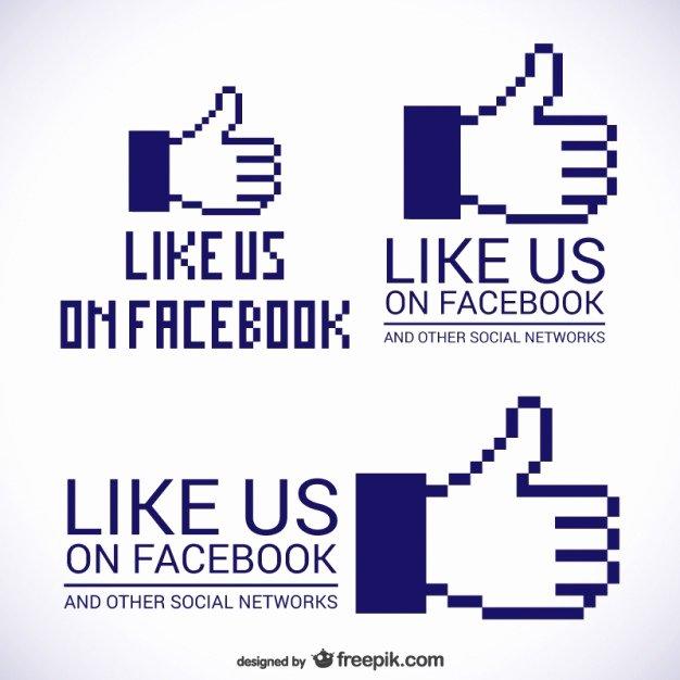 Like Us On Facebook Vector Luxury Like Us On Logos Vector