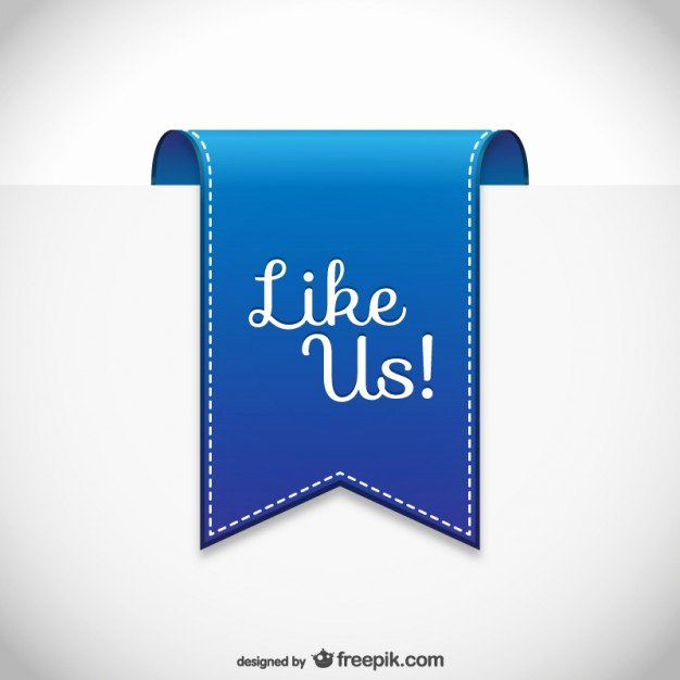 Like Us On Facebook Vector Unique Like Us Label Vector
