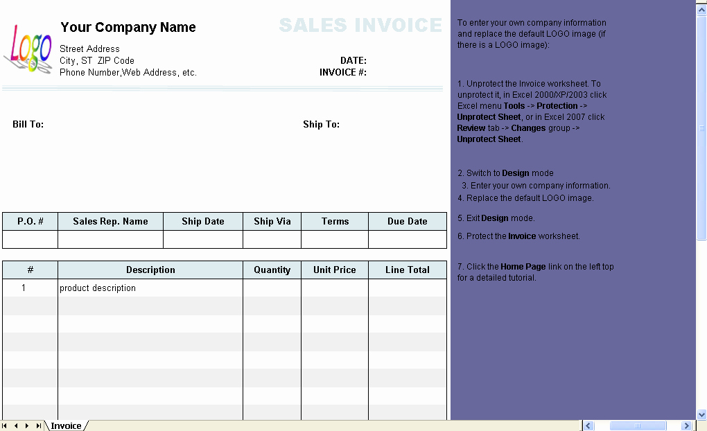 Line Sheet Template Excel Lovely Template with Line Number On Invoice Body Invoice Manager for Excel