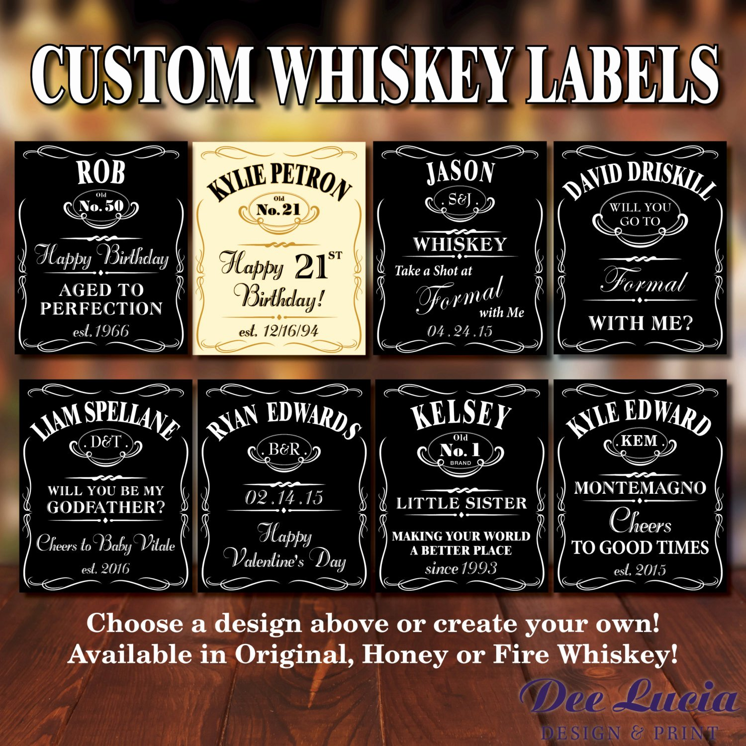 Liquor Bottle Labels Template New Custom Whiskey Bottle Labels for Any Occasion