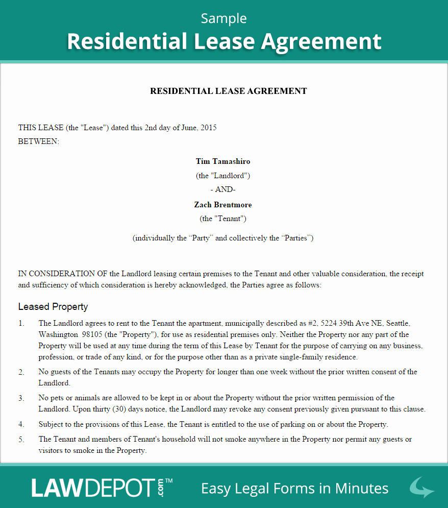 Living Agreement Contract Template Awesome Residential Lease Agreement