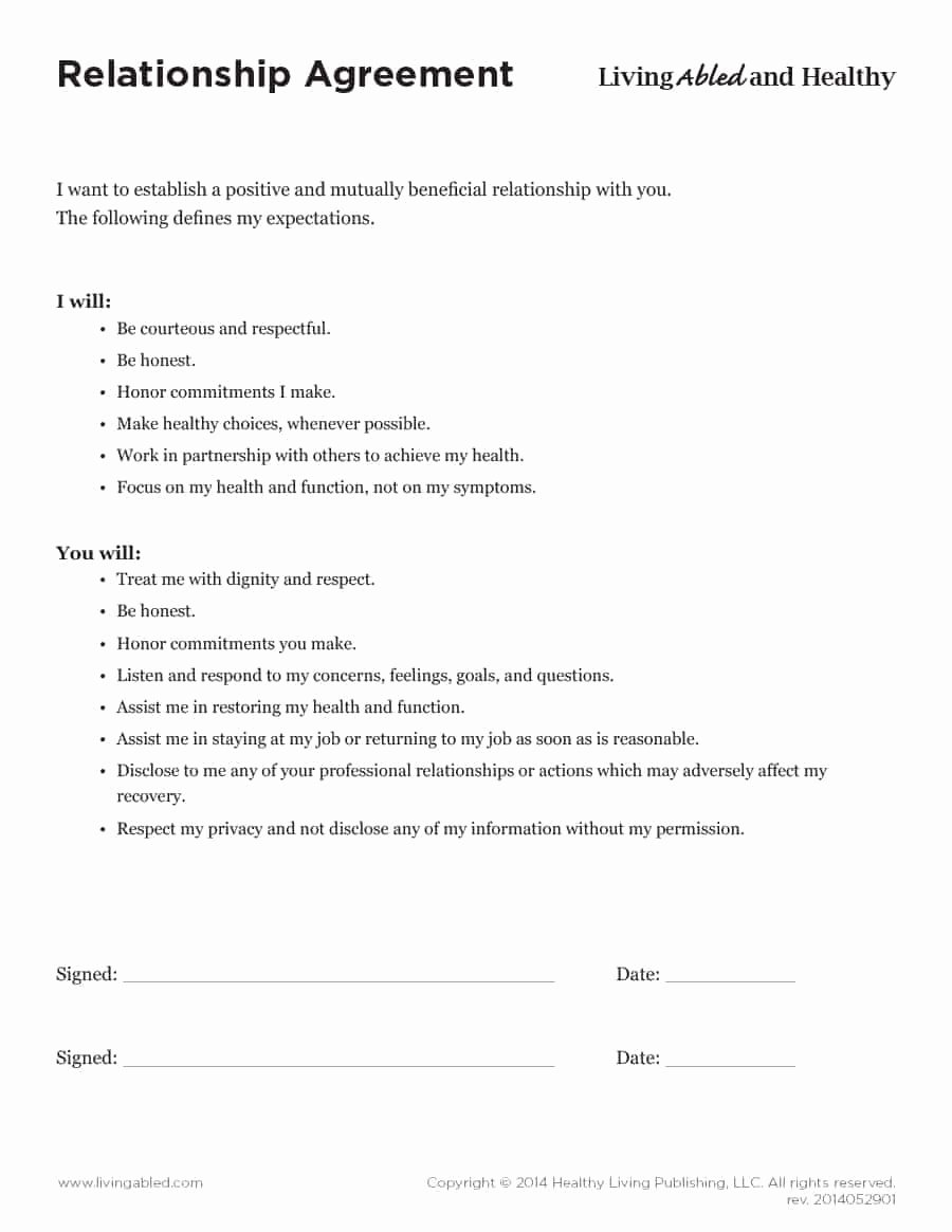 Living Agreement Contract Template Best Of 20 Relationship Contract Templates & Relationship Agreements