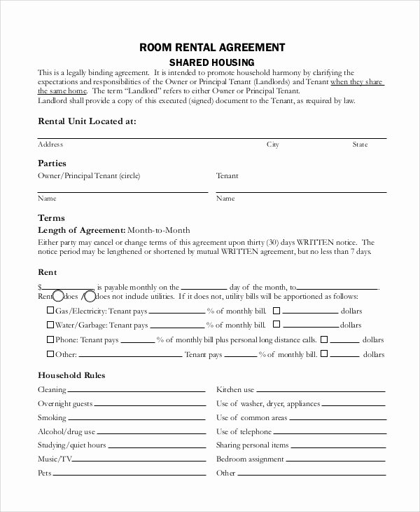 Living Agreement Contract Template Best Of Sample Rental Agreement Contract 7 Documents In Word Pdf