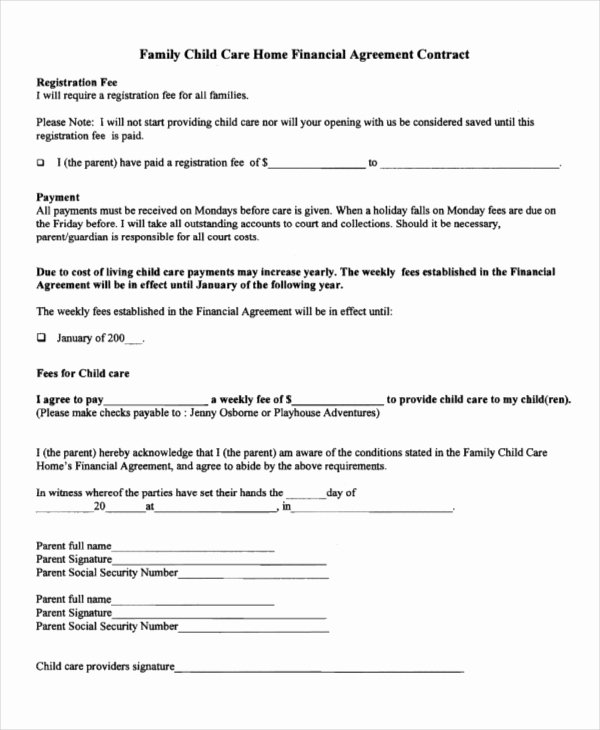 Living Agreement Contract Template Luxury 47 Basic Agreement forms Word Pdf