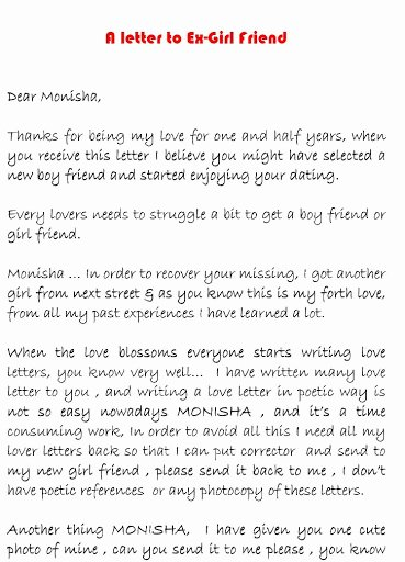 Love Letter to Ex Girlfriend Beautiful Love Letter to An Ex Girlfriend Very Interesting
