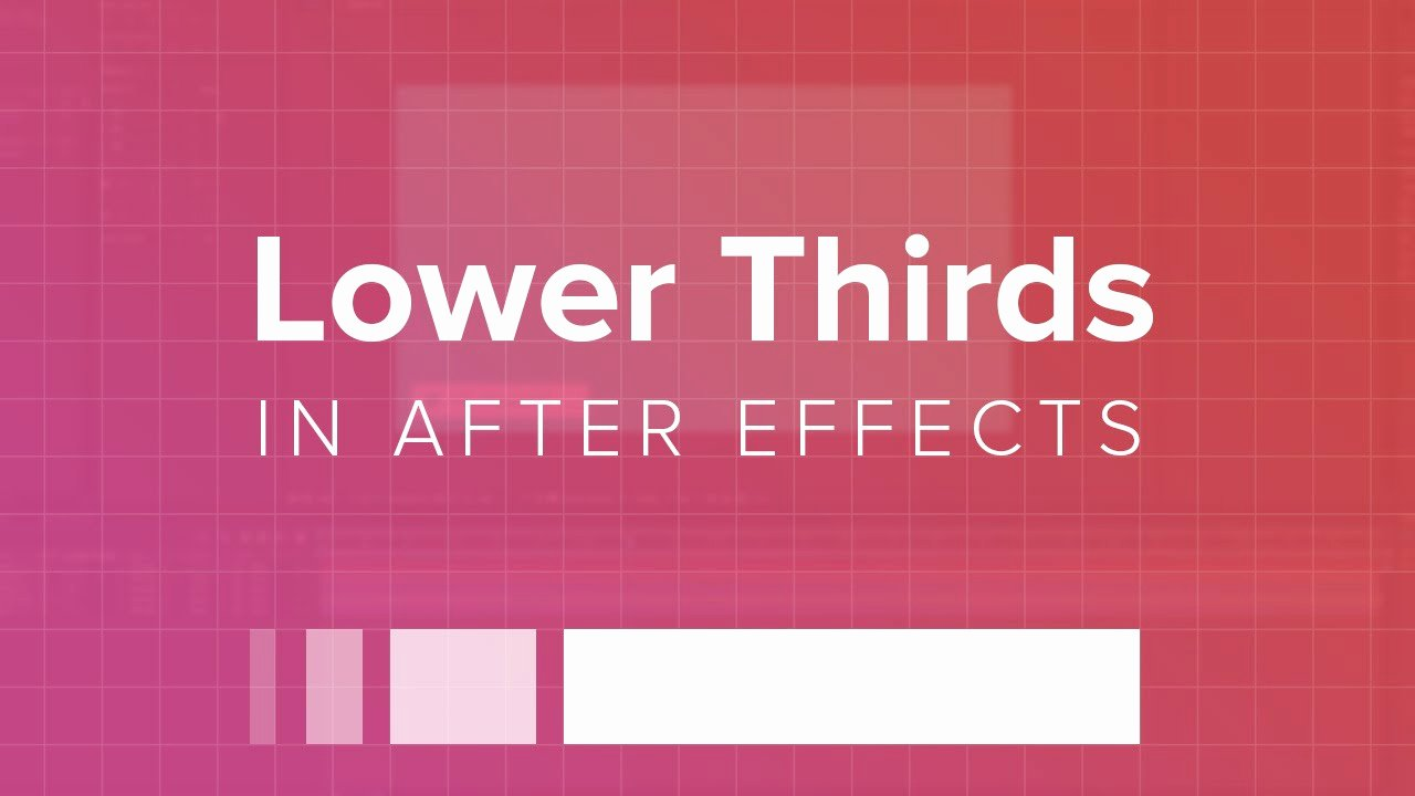 Lower Third after Effects Awesome How to Create A Lower Third In after Effects