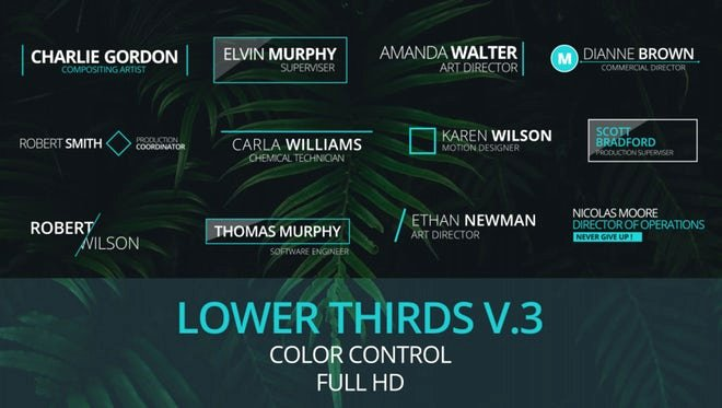 Lower Third after Effects Beautiful Lower Thirds V 3 after Effects Templates