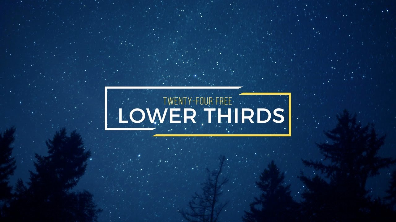 Lower Third after Effects Best Of 24 Free Lower Thirds for after Effects