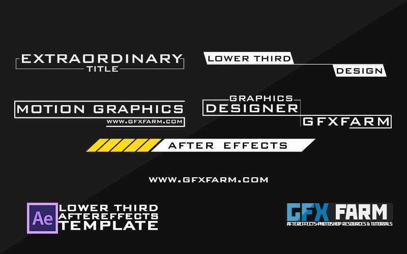 Lower Third after Effects Fresh Lower Third Pack after Effects Template Gfxfarm