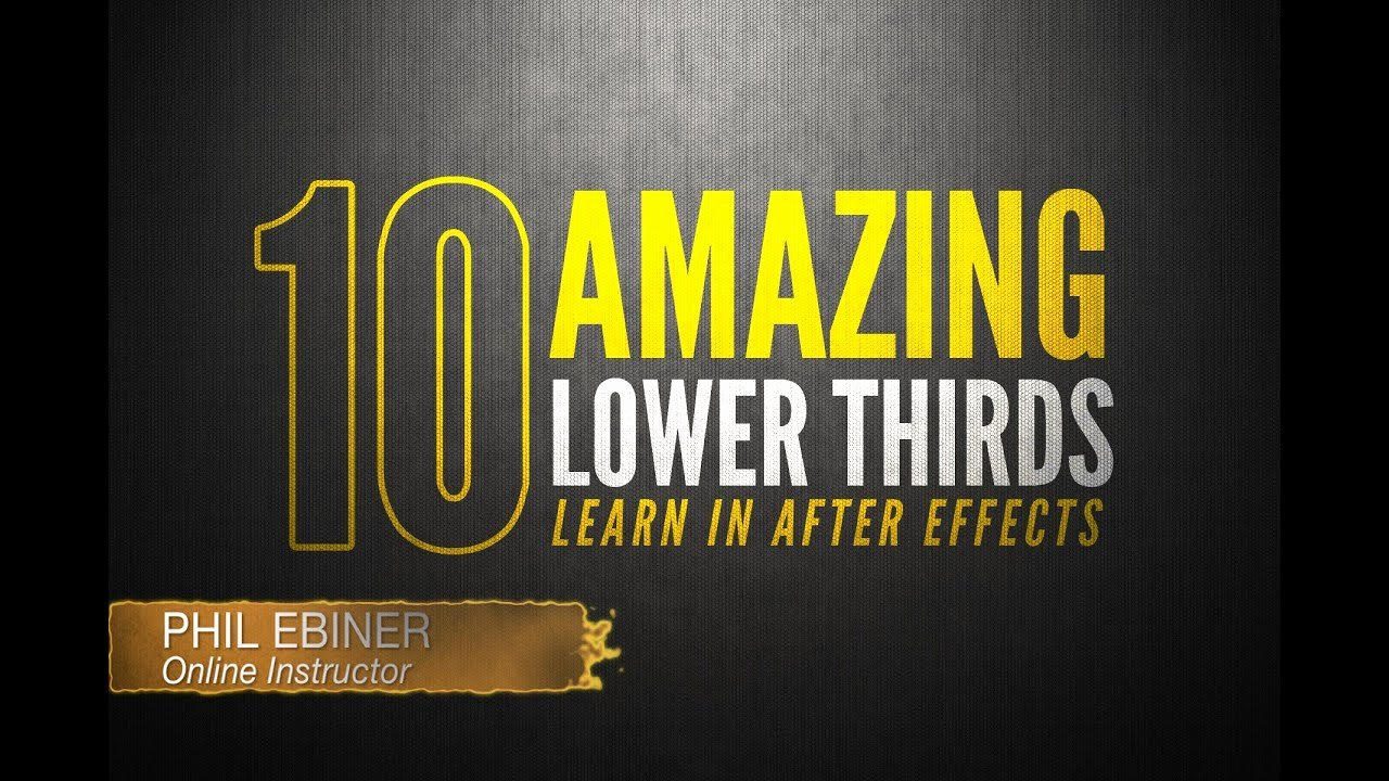 Lower Third after Effects Luxury 10 Fun Lower Thirds Tutorials after Effects Line
