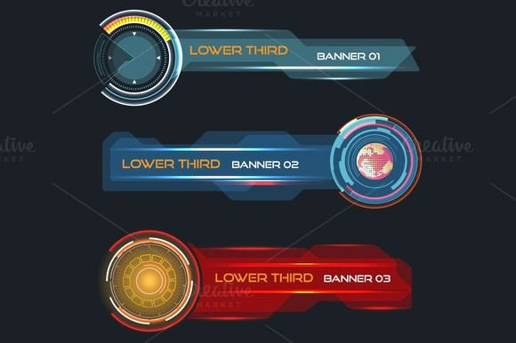 Lower Third Templates Photoshop Awesome Futuristic Lower Third Banners by Beographic On Creative Market
