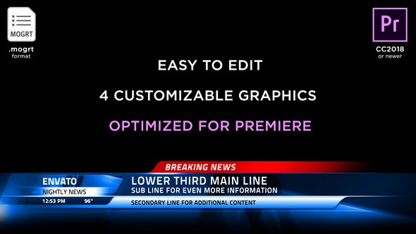 Lower Third Templates Photoshop Beautiful Broadcast News Lower Thirds
