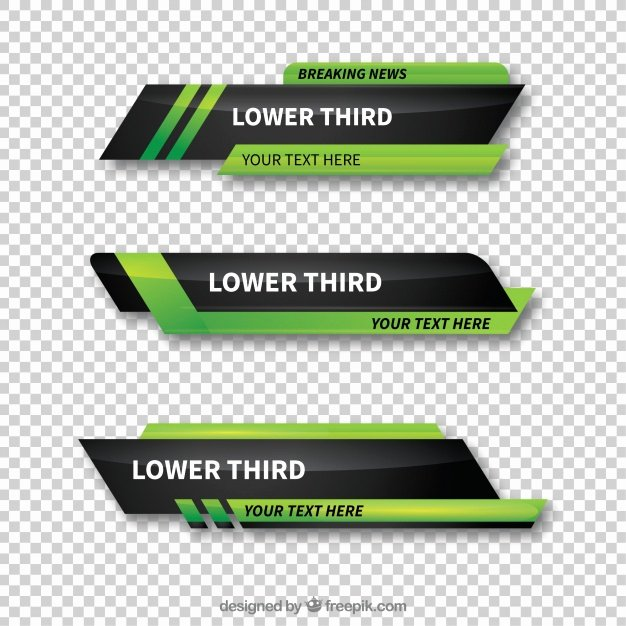 Lower Third Templates Photoshop Inspirational Pack Of Green Abstract Lower Thirds Vector