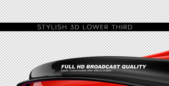 Lower Third Templates Photoshop New Stylish 3d Lower Third – after Effects Project