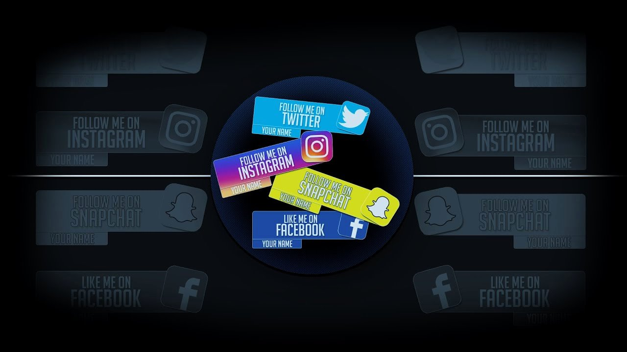 Lower Third Templates Photoshop New Template social Media Lower Thirds [free]