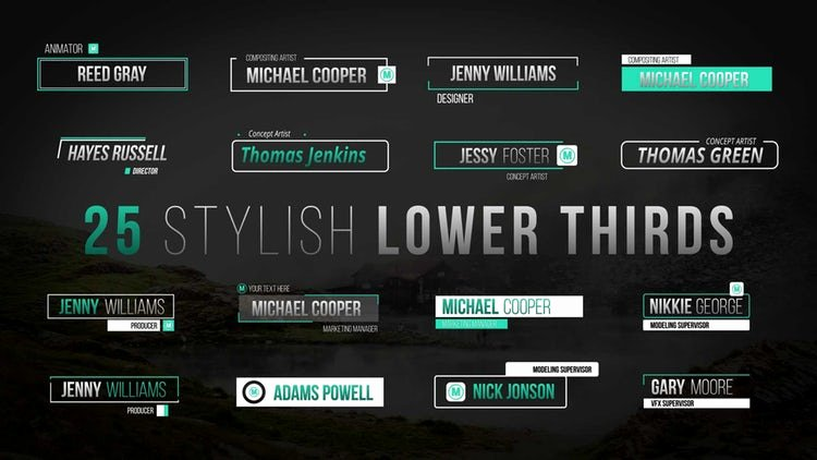 Lower Thirds after Effects Fresh Stylish Lower Thirds after Effects Templates