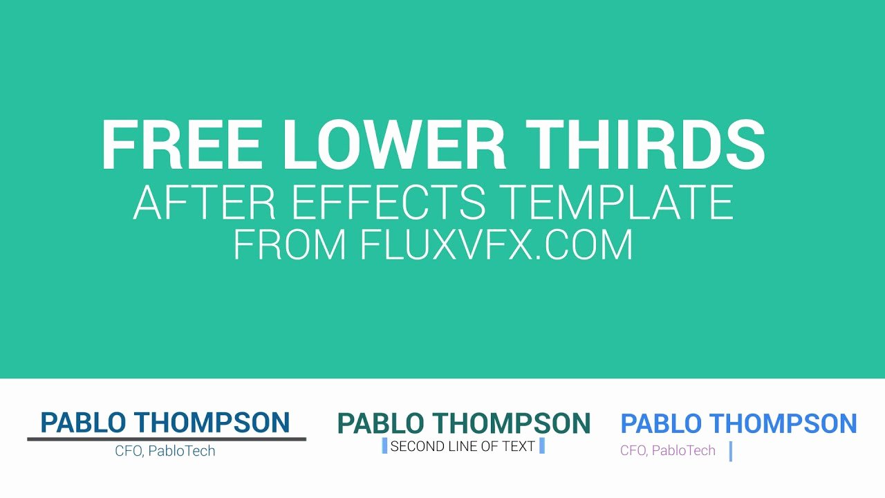 Lower Thirds after Effects New Free Lower Thirds Pack after Effects Template