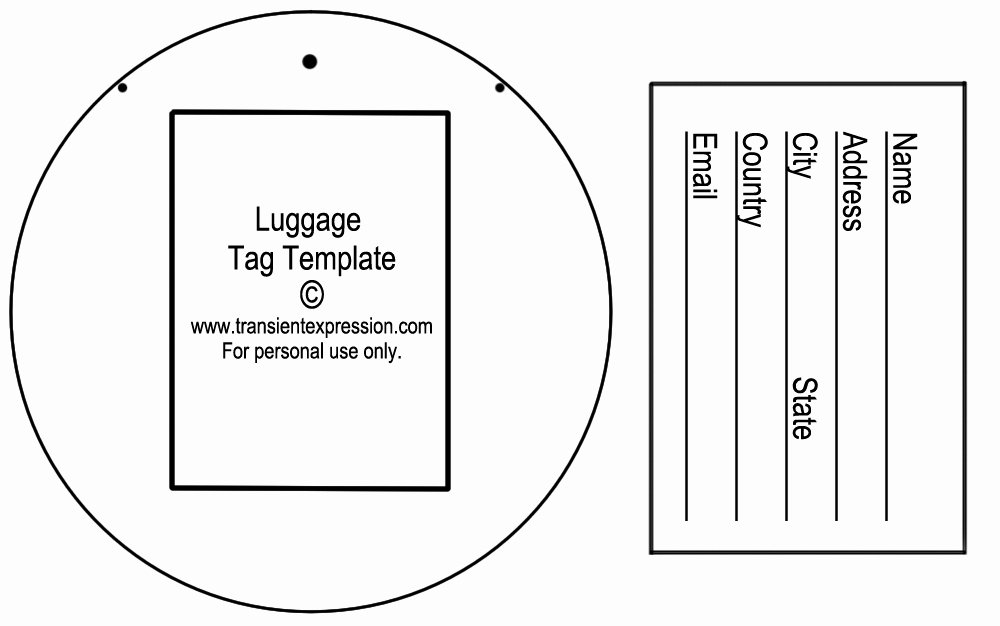 Luggage Name Tag Template Awesome Luggage Label Template
