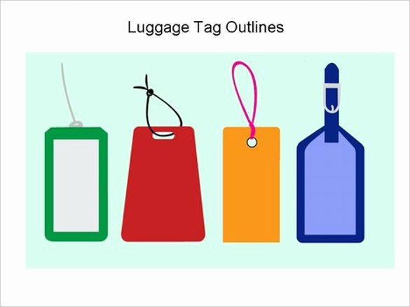 Luggage Name Tag Template Beautiful 14 Free Tag Templates – Free Sample Example format Download