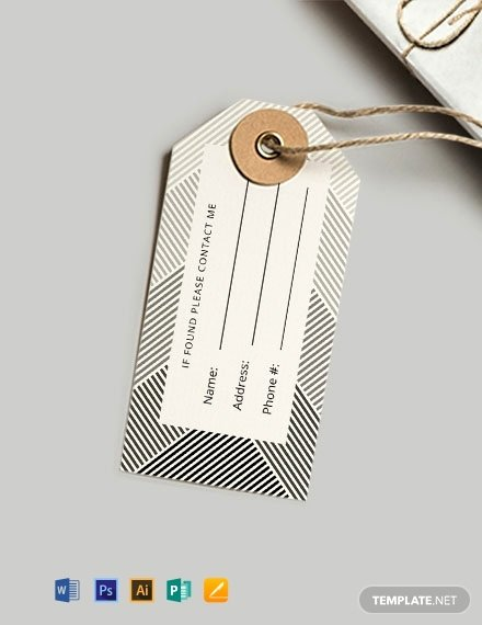 Luggage Name Tag Template Best Of 50 Free Tag Templates Word Psd Indesign Apple Pages Publisher