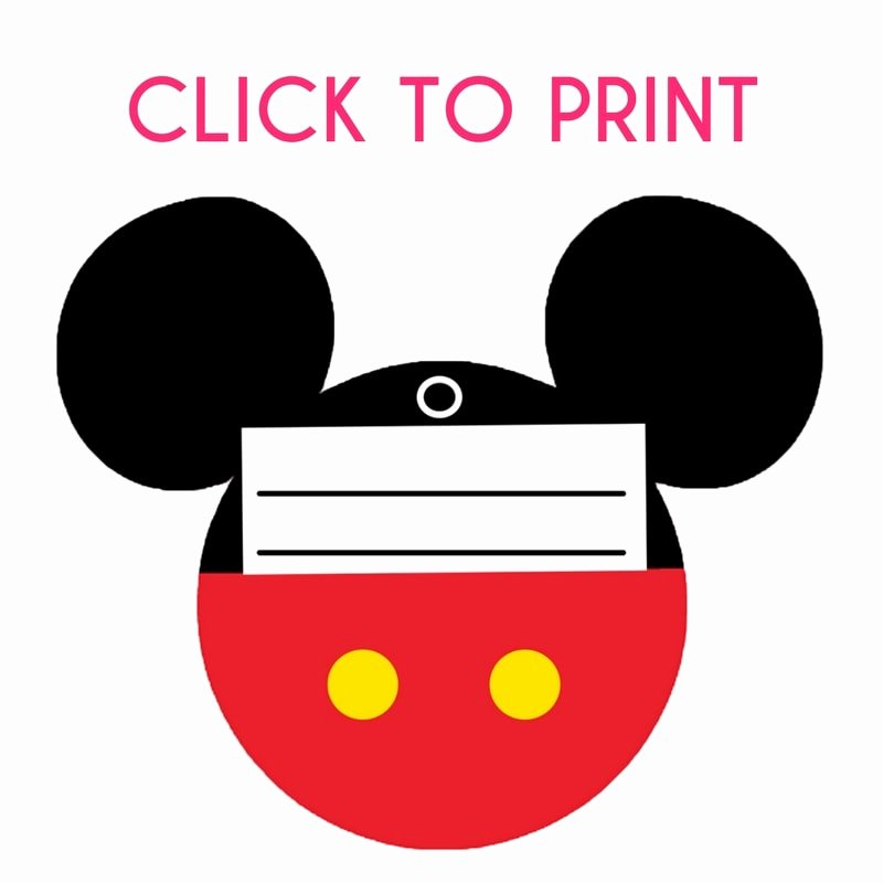 Luggage Name Tag Template Best Of Free Printable Mickey Mouse Luggage Tags